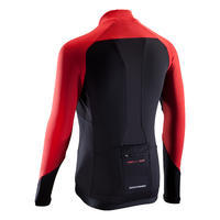 Long-Sleeved XC Mountain Bike Jersey - Black/Red