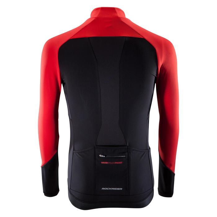 MTB shirt heren lange mouwen voor cross country zwart/rood