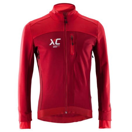 Veste vélo de montagne cross-country rouge