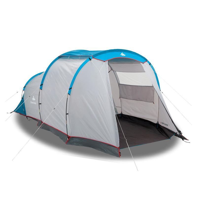 เต็นท์ 1 ห้องนอนพร้อมเสาค้ำรุ่น Arpenaz 4.1 สำหรับ 4 คน