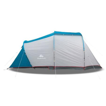 Camping tent with poles - Arpenaz 4.1 - 4 Person - 1 Bedroom