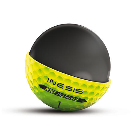 Bola Golf x12 100 Distance- Kuning