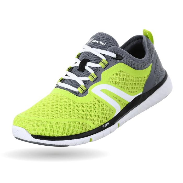 Zapatillas marcha deportiva hombre Soft 540 amarillo / gris