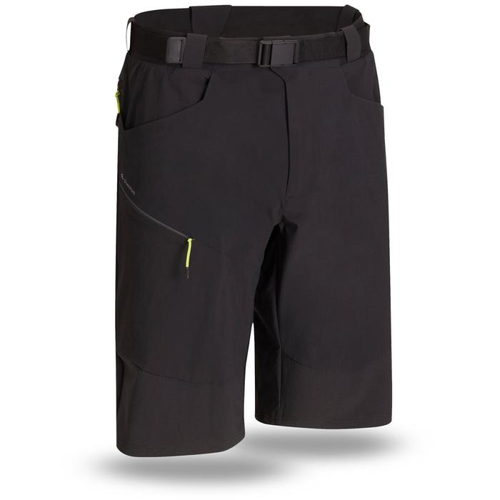 Pantalón corto Senderismo en la montaña MH500 hombre negro