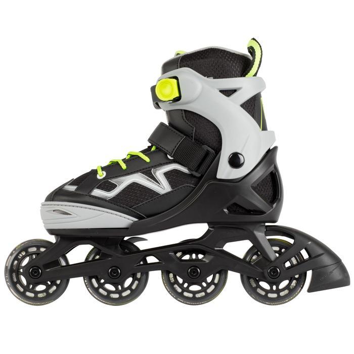 Inline-Skates Inliner Fitness FIT3 Kinder grau/gelb