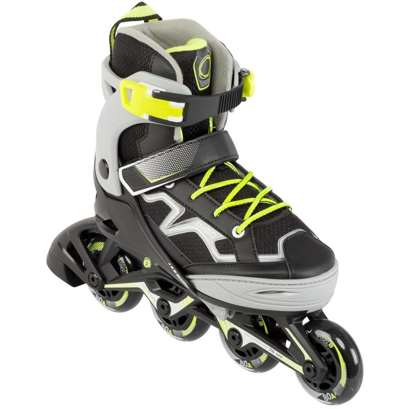 Fit 3 Kids' Fitness Skates - Grey/Yellow
