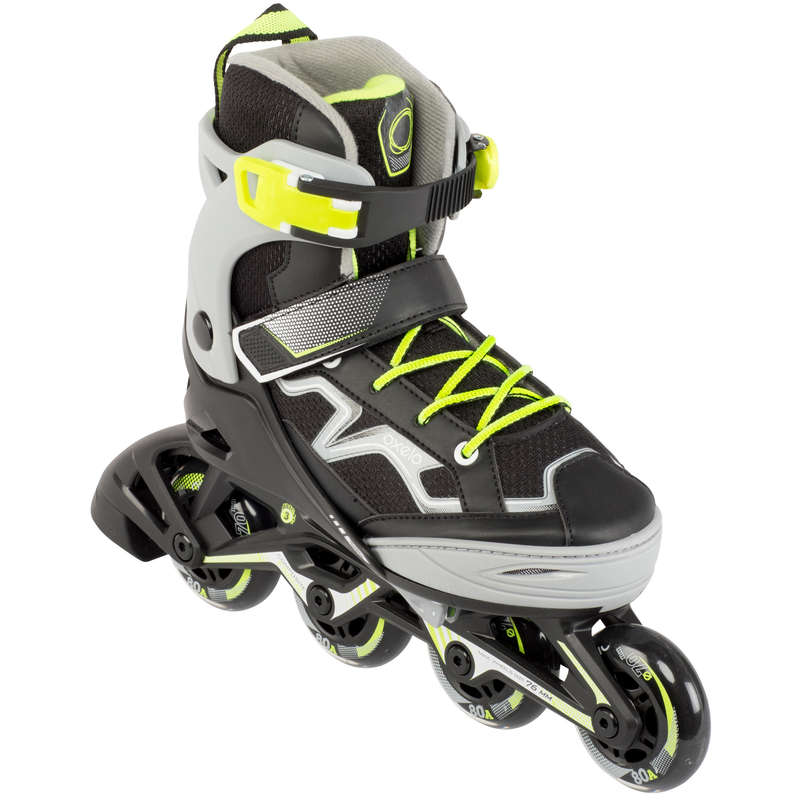 CHILDREN INLINE SKATE Outdoor Activities - Fit 3 JR - Grey/Yellow OXELO - Outdoor Activities