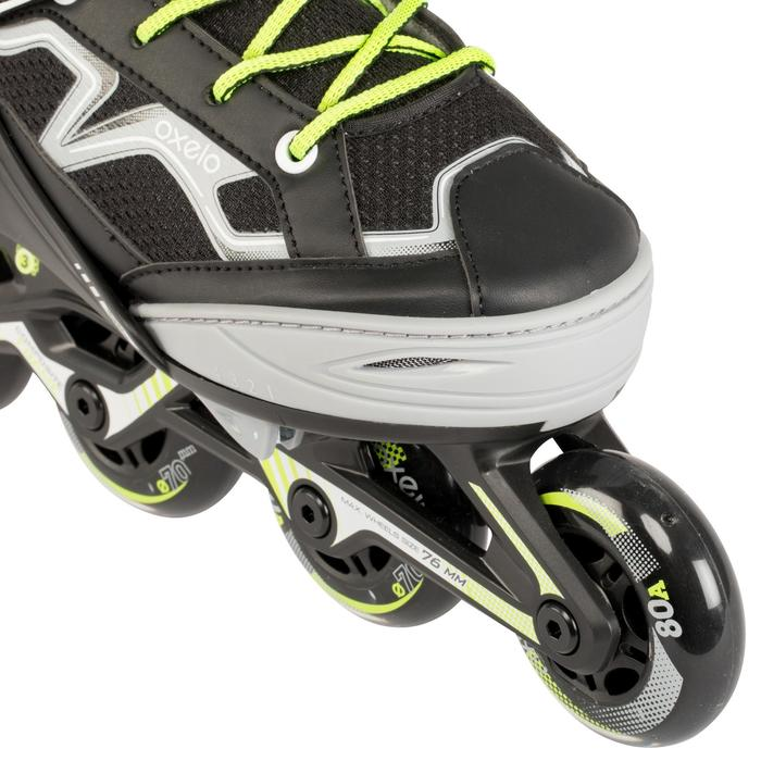 Roller fitness enfant FIT3 JR gris jaune