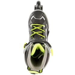Fitness skeelers kind Fit 3 grijs geel