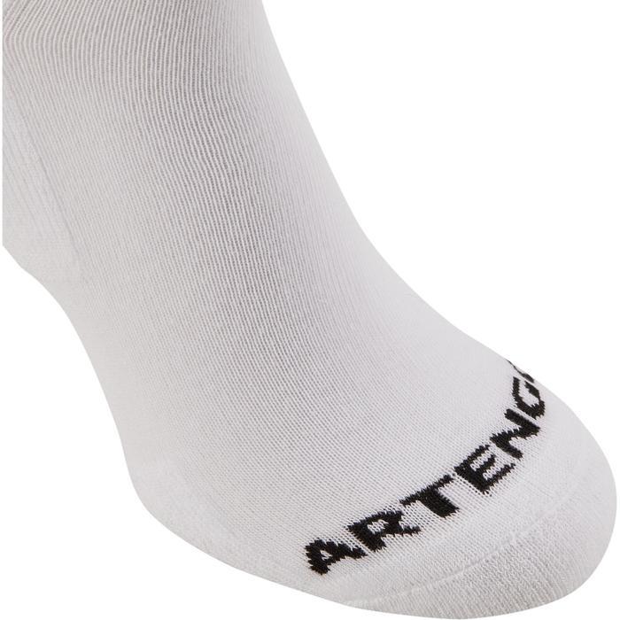 Sokken voor racketsport RS 100 volwassenen 3 paar hoog wit
