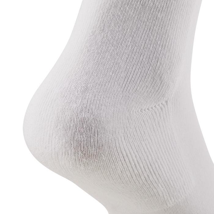 Hoge sokken voor racketsport RS 100 volwassenen 3 paar wit
