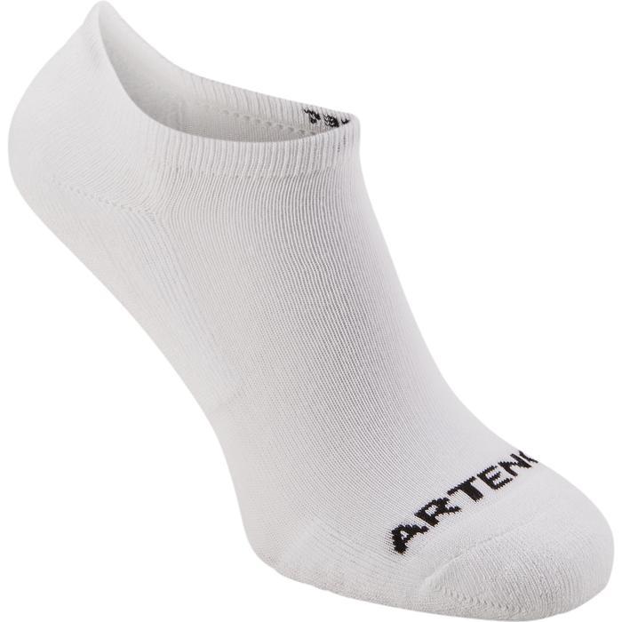 Korte sokken voor racketsport RS 100 volwassenen 3 paar wit