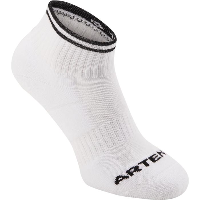 CALCETINES DE DEPORTE ADULTO MEDIA CAÑA ARTENGO RS 500 BLANCO COLOR LOTE 4 PARES