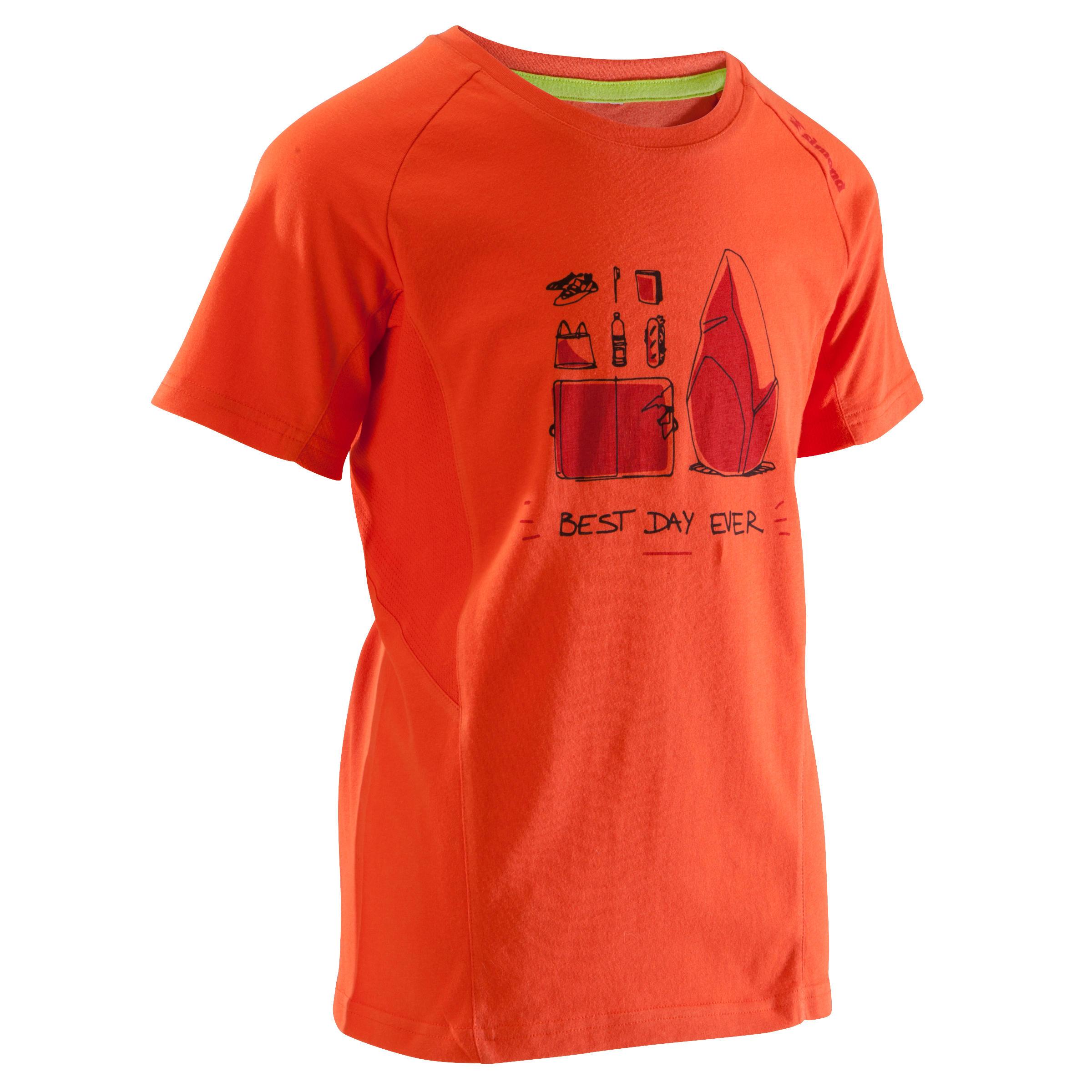 Simond Jongens T-shirt met korte mouwen Best Day Ever rood