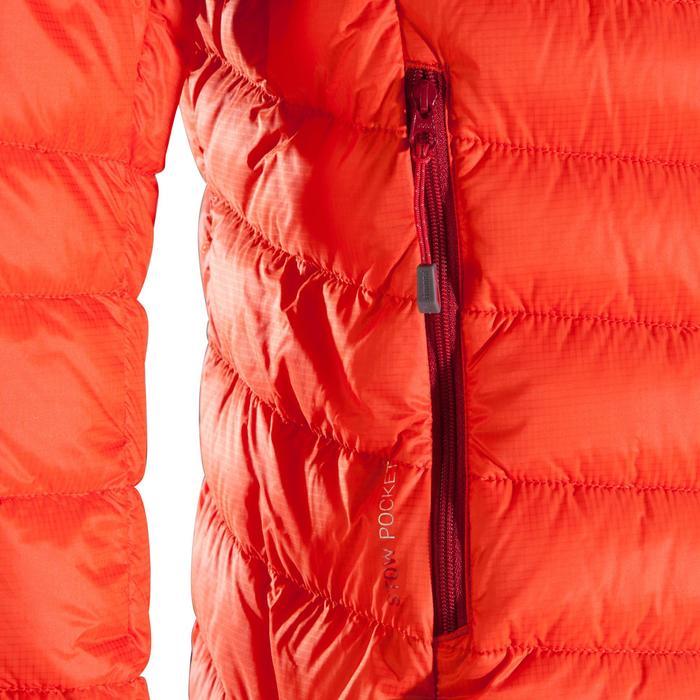 Donsjas light dames alpinisme vermiljoen