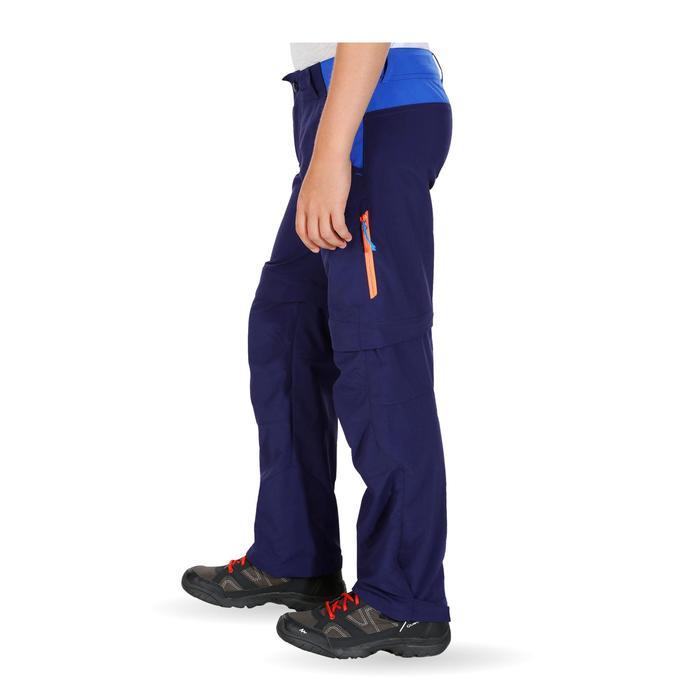 Pantalón transformable de senderismo júnior Hike 900 azul marino