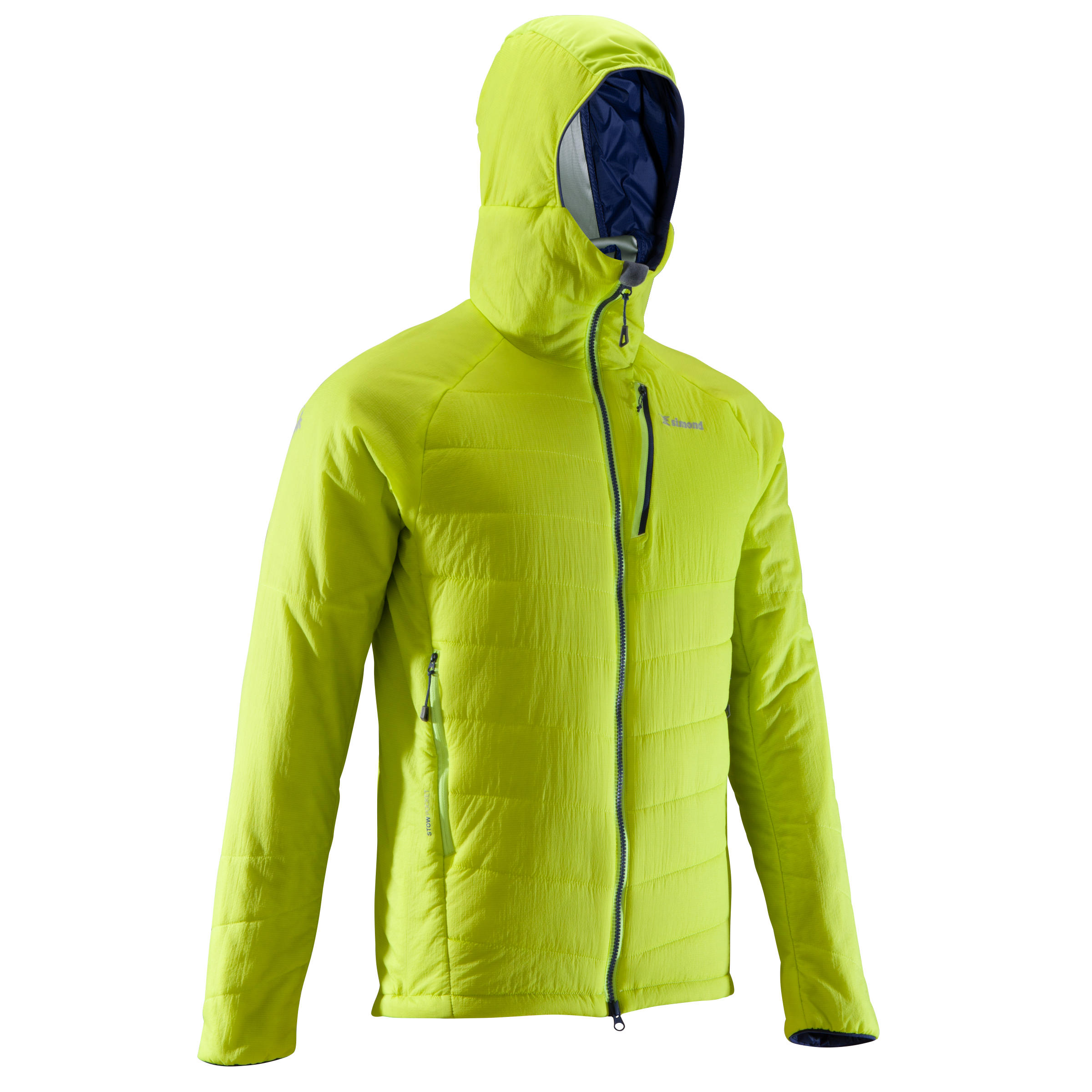 Men's Mountaineering Padded Jacket - Aniseed Green & Cosmos Blue
