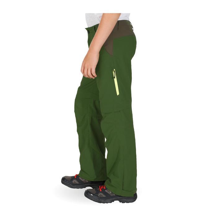 Pantalón de senderismo transformable júnior Hike 900 verde