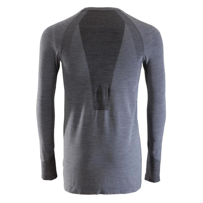 Tee-Shirt Manches longues SEAMLESS Laine 40% HOMME GRIS