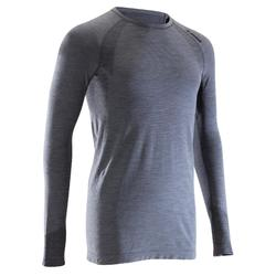 Shirt met lange mouwen van wol voor heren Seamless Alpinism grijs