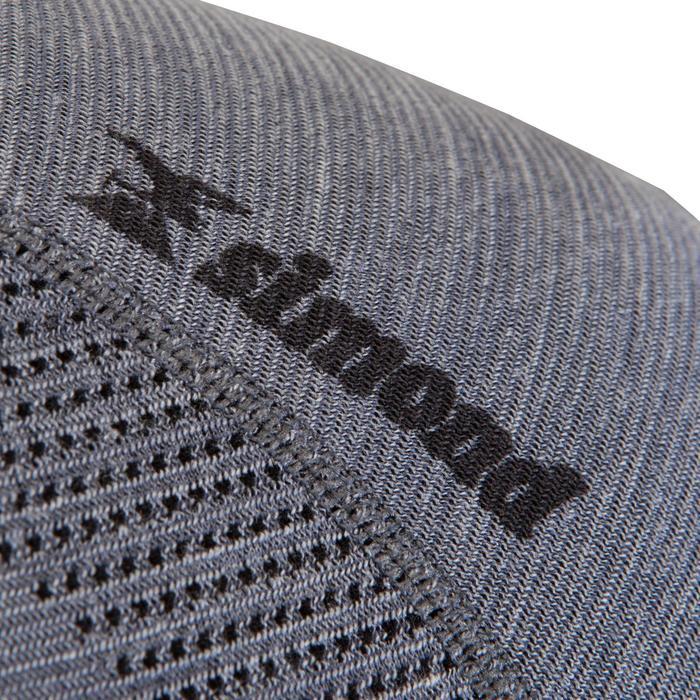 T-Shirt Langarm SEAMLESS Wollen 40% Herren grau