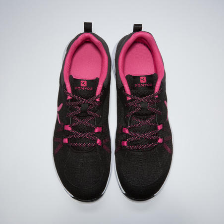 100 Women's Fitness Cardio Training Shoes - Black/Pink