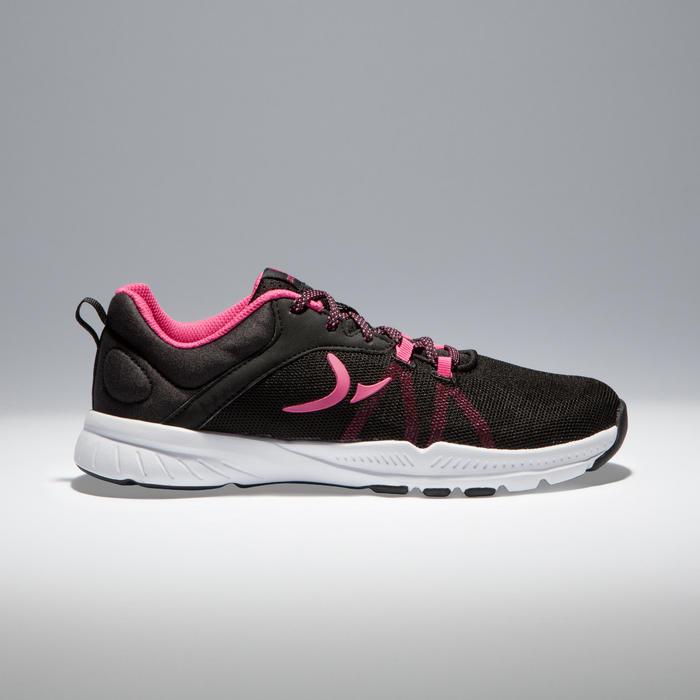 Fitnessschuhe Cardio 100 Damen schwarz/rosa