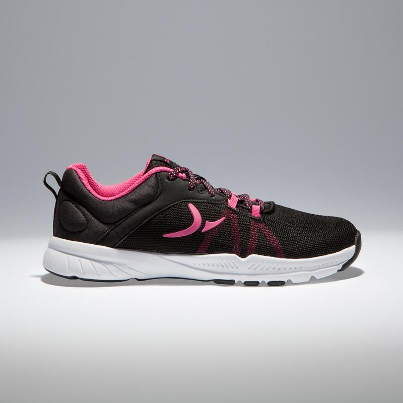 Women's Basic Cardio & Gym Shoes - Black/Pink