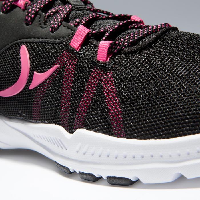 Fitnessschuhe Fitness Cardio 100 Damen schwarz/rosa