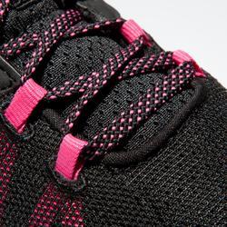 Fitness schoenen cardiotraining 100 voor dames, zwart/roze