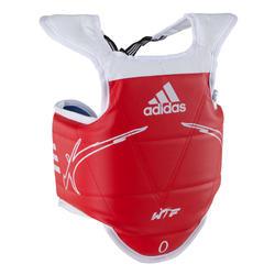 Omkeerbare borstbeschermer kinderen taekwondo blauw rood