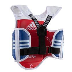 Brustschutz Taekwondo wendbar Kinder blau/rot