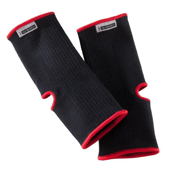 搏擊運動護踝100 - 紅 / 黑