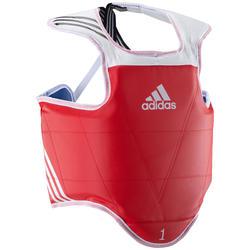 Omkeerbare borstbeschermer volwassenen taekwondo blauw rood