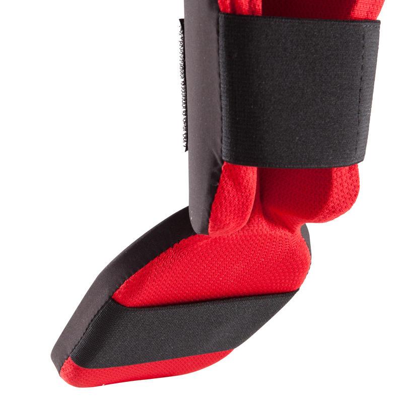 สนับแข้งและเท้าสำหรับผู้หัดเล่นคิกบ็อกซิ่ง/มวยไทยรุ่น 100