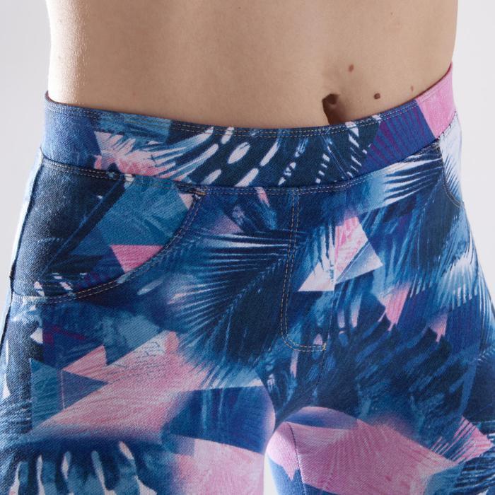 Leggings danza fitness mujer azul con estampados