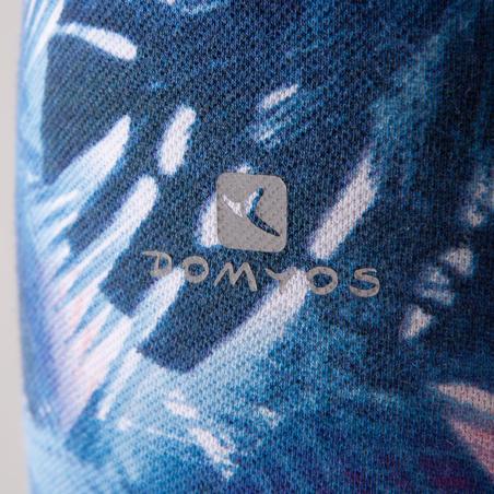 Leggings azules estampados de danza para mujer