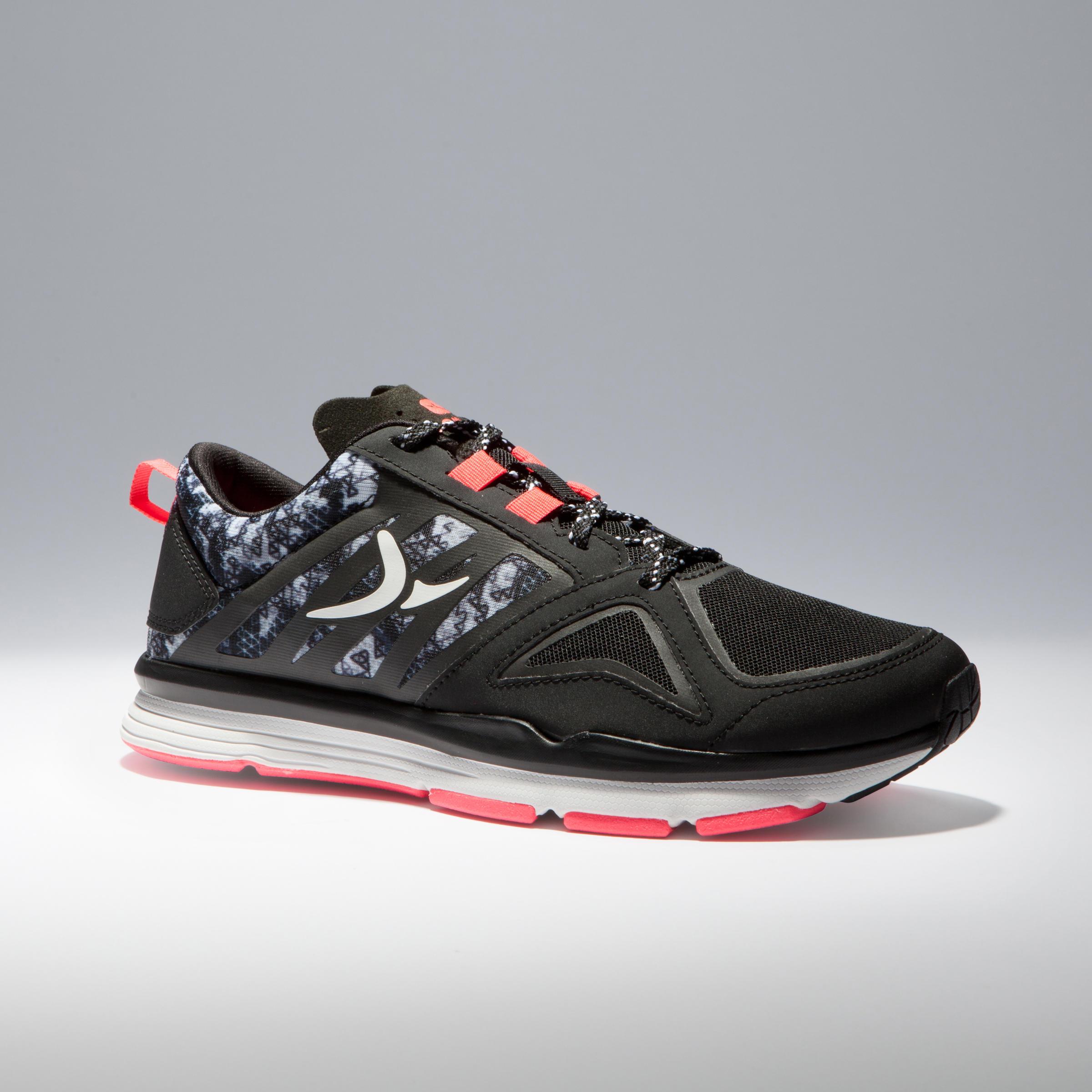 Chaussure d'entraînement cardio femme noir rose Energy 900