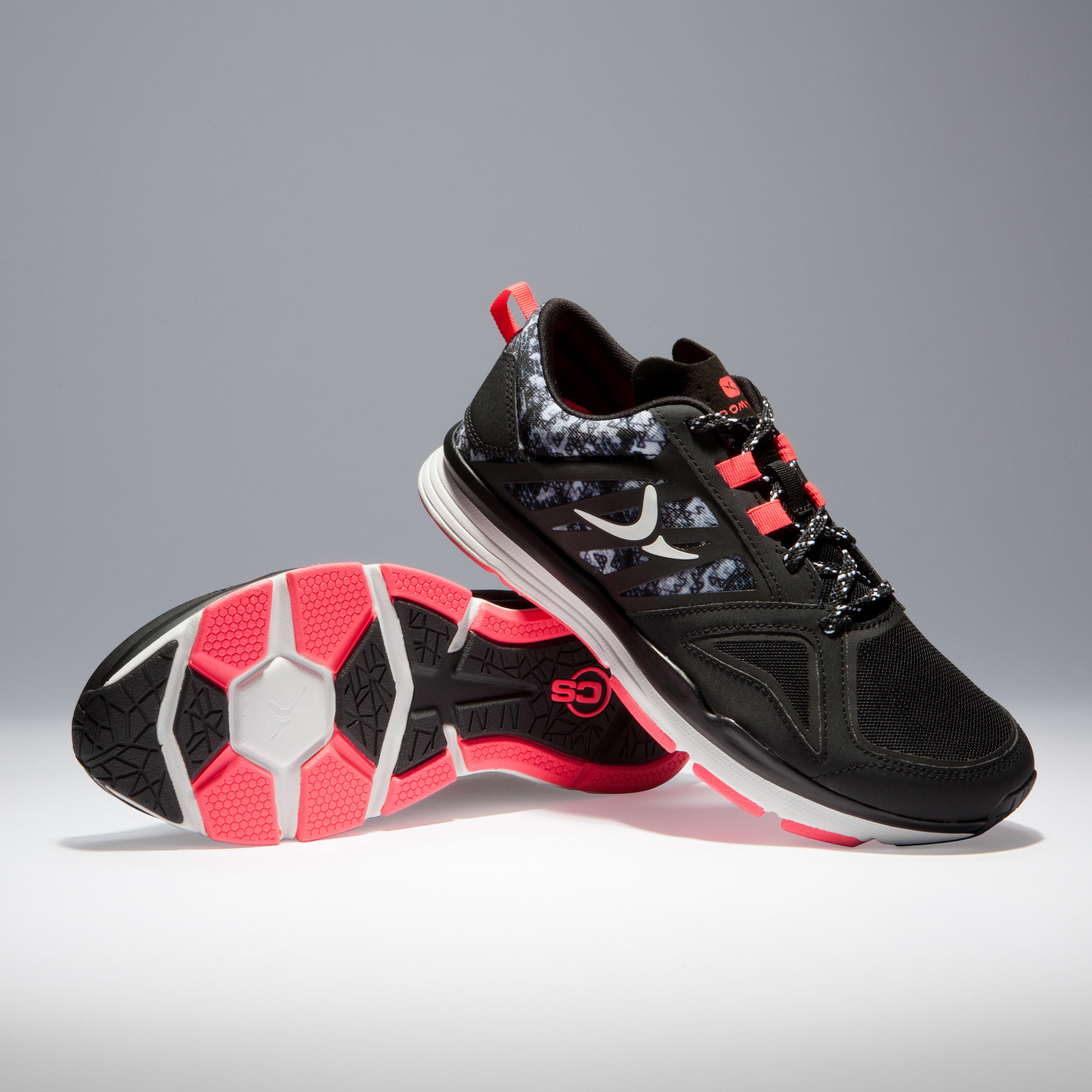 900 Women's Cardio Fitness Shoes - Black and Pink