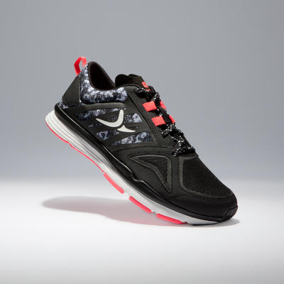 Tenis fitness cardio mujer Energy 900 negro rosado