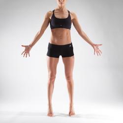 Tanzshorts Mini Hotpants Damen schwarz