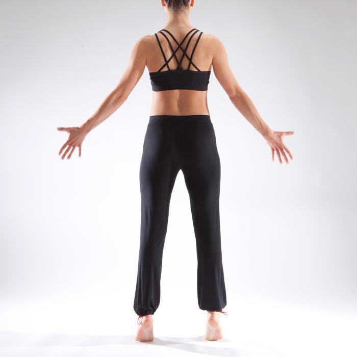 Pantalon noir de danse moderne à longueur ajustable femme