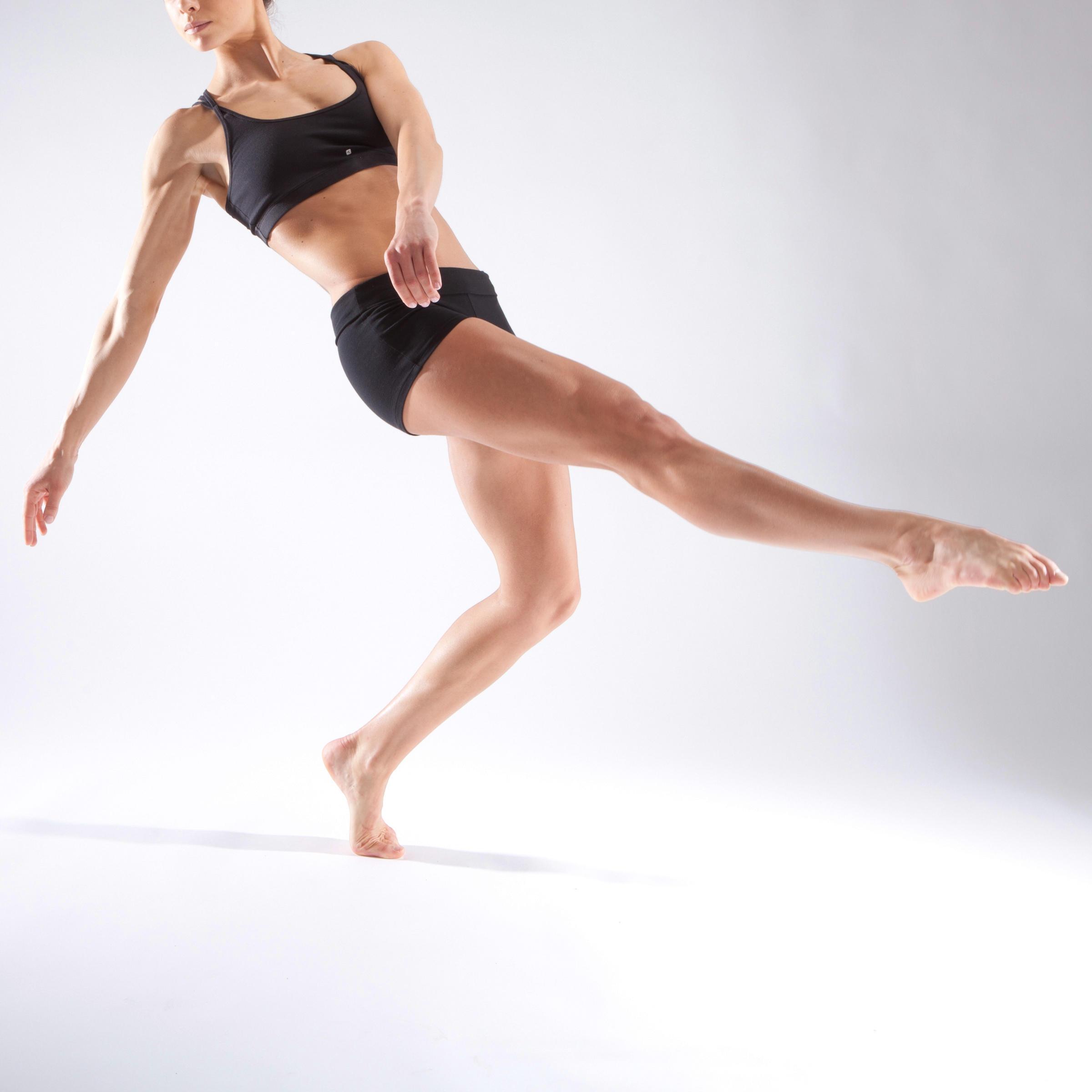 Femme Noir Moulant De Danse Mini Short OPnk80w