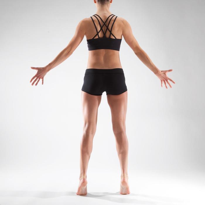 Minishort voor dans, voor dames, zwart