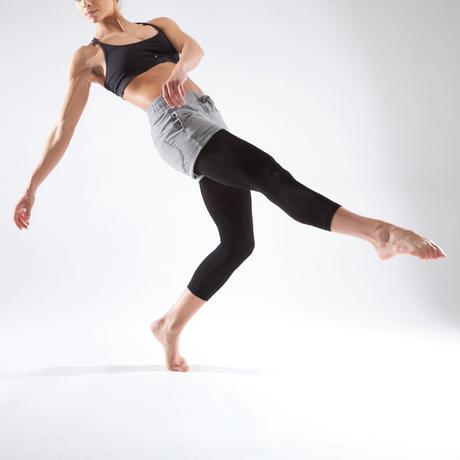 15a7c05ee0b76 Short de danse moderne femme gris à cordons de serrage gris