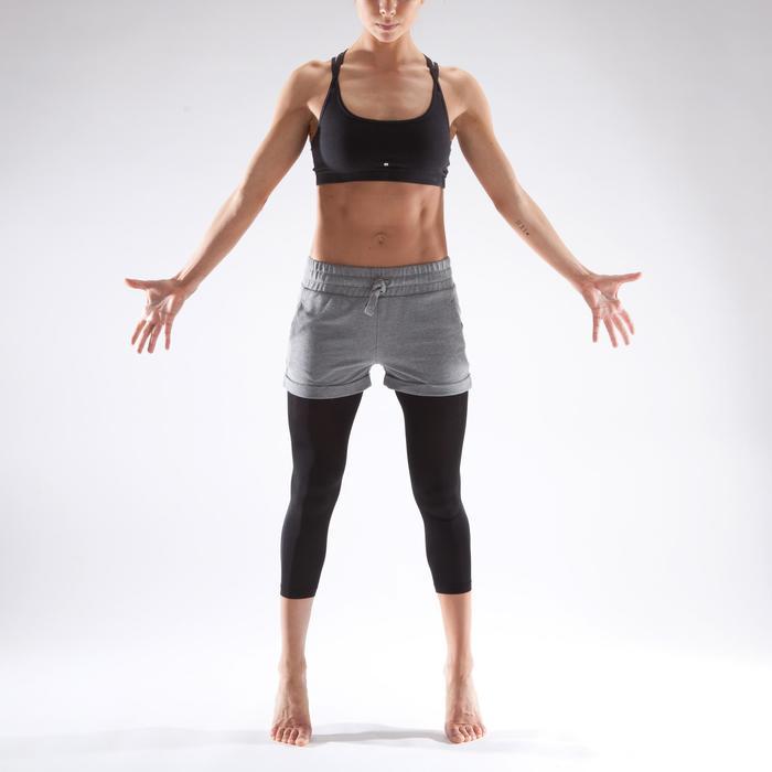Short danza moderna mujer gris con cordones de ajuste gris