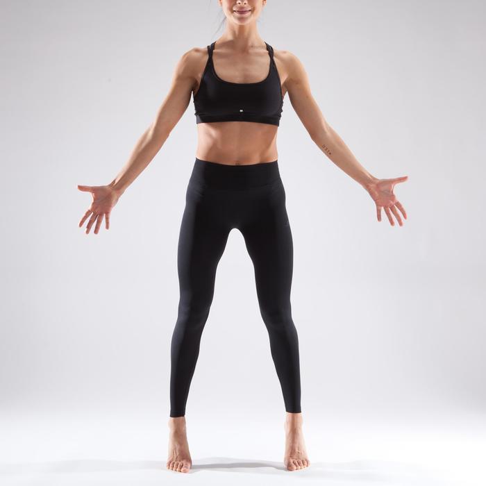 Tanz-Leggings nahtlos Damen schwarz