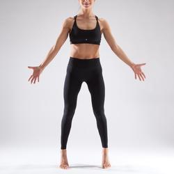 Legging sans coutures de danse femme noir