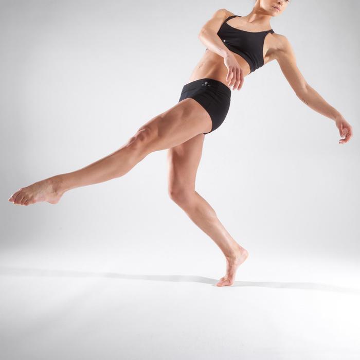Aansluitende minishort voor dans dames zwart