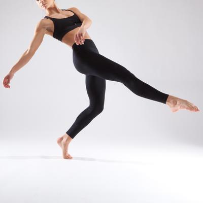 מכנסי טייץ ללא תפרים לריקוד לנשים - שחור